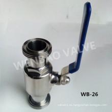 304 Válvula de bola sanitaria con extremos de rosca macho