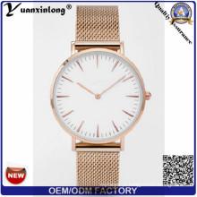 As vendas quentes relativas à promoção Yxl-196 do relógio da malha da venda das senhoras vestem relógios ocasionais de quartzo da moda de Vogue