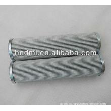 El reemplazo para el elemento de filtro de aceite hidráulico de fibra de vidrio FILTREC D821G10A, cartucho de filtro de malla metálica de cola de filtro