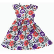 Venda quente vestido da menina na roupa das crianças da forma (SQD-119)