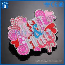 logo personnalisé logo souvenir en métal pour badges de musique