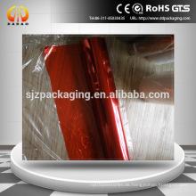 Roter Plastikrollenfilm rote Farbe transparenter Haustierfilm