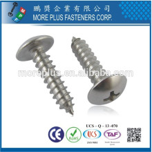 Made in Taiwan Zinc Steel Phillips Drive Mushroom Head Self Tapping Screws