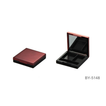 Delicate Purplish Red Compact Powder Container With Mirror