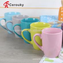 Solid color glaze stoneware drinkware,SGS approved handmade stoneware milk mug