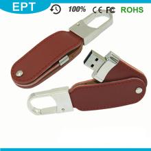 Movimentação de couro relativa à promoção por atacado da pena de USB Flashn para a amostra grátis