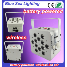 12pcs wifi rgbwa uv 6in1 chargeable battery led par light