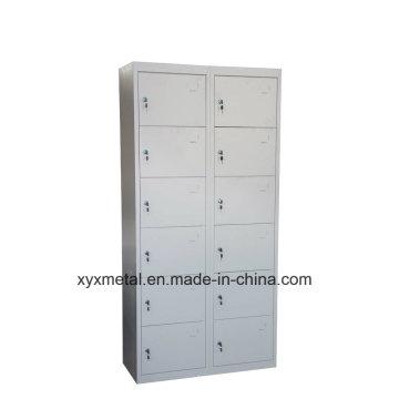 Hot Saling Commercial Furniture Detachable 12 Door Metal Wardrobe