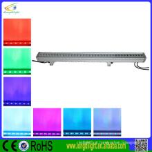 36 * 3W RGB dmx parede arruela ip65 led, levou ao ar livre luzes parede arruela
