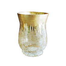 Hurricane Glass With  Gold Foil