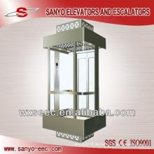 Vollansicht Glas Panorama Aufzug