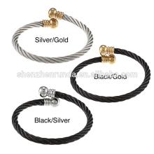 De aço inoxidável de alta qualidade abrem bracelete de cabo de codorna abobrada grossista China