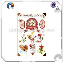 Etiqueta engomada temporal del tatuaje de CMYK de la fiesta de Navidad fuentes festivas del copo de nieve