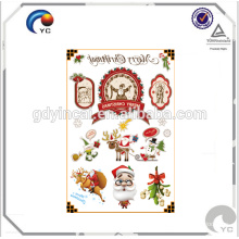 Xmas Temporary Tattoo CMYK Sticker Party Festive Supplies Snowflake
