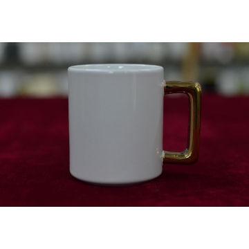 Golden Rim Mug and Square Handle Mug