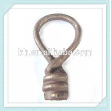 Finition décorative en acier inoxydable à base de fer forgé pour rideau / voie