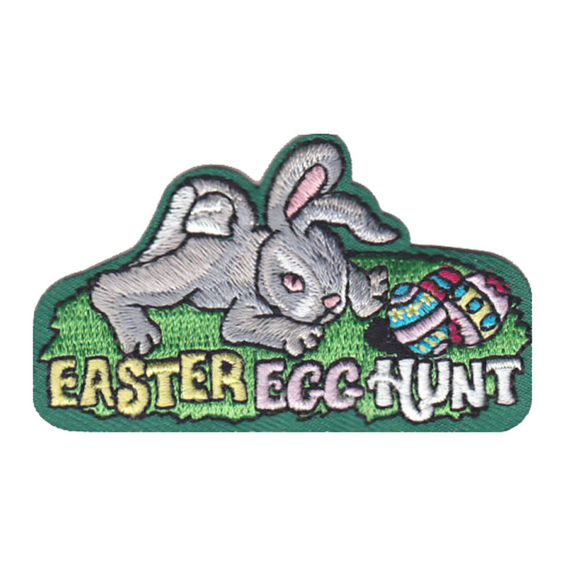Easter Egg Hunt Iron On Embroidered Patch