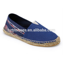 Wholesale Spain Shoes Espadrille Canvas Shoes Men Rubber Sole Shoes