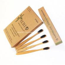 Cepillo de dientes de bambú natural 100% biodegradable aprobado por la FDA