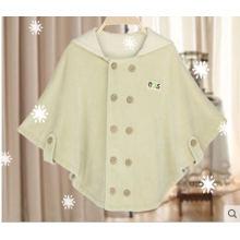 Nueva capa orgánica del bebé del algodón con diseño de moda de China