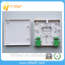 FTTH 2 porta Flame Retardant Fiber placa frontal montagem / 86 Socket Patch Panel