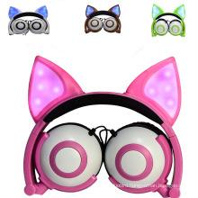 LED gifts Fox ear headphone for kids