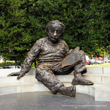 Hochwertige benutzerdefinierte Einstein Memorial Bronzestatue