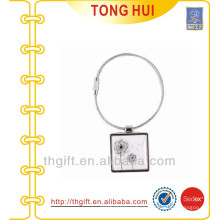 Square keyring with Steel ring