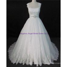 2017 Женская Мода Органзы Кружева Дамы Вечерние Платья Свадебные Платья