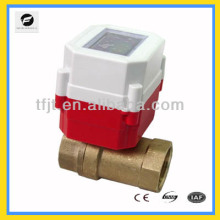 """Mini 2-way DC3.6V G1"""" Li battery RF IC card control electric shut-Off valve for automatical control heating project"""