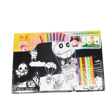 kids cute coloring fuzzy velvet posters
