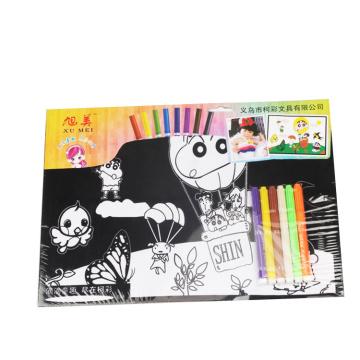 cartaz de veludo fuzzy de coloridos fofos para crianças