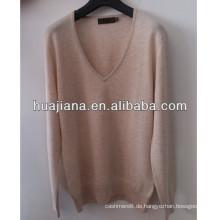 100% Kaschmir Frauen tiefem V-Ausschnitt Pullover