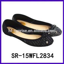2015 дамы Китай плоские туфли навалом оптовой обуви оптовой Китай обувь