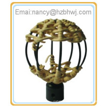 triangle rattan decor curtain rod finial