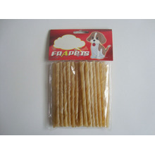 "Dog Food Natural Rawhide Twist Stick (5""/6-8mm)"