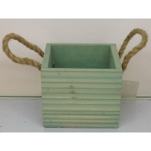 Gestreiftes dekoratives Becken aus binauralem Holz