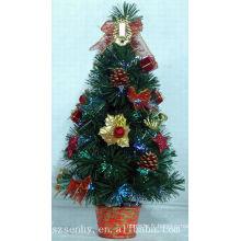 Feu de vacances Fibre Optique Arbre de Noël avec pinecone