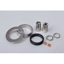 Imanes de anillo y de disco y de tubo en revestimiento diferente