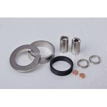 Кольцевые и дисковые и трубные магниты в различном покрытии