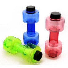 Custom Logo PE Water Bottle with Dumbbell Design for Promotion