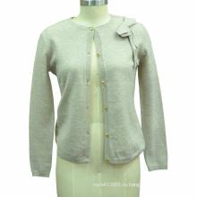 Женщины трикотажные чистого цвета с длинным рукавом джемпер свитер