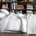 Hotel White CVC 80 Algodão 20 Poliéster Set Sateen Bedding