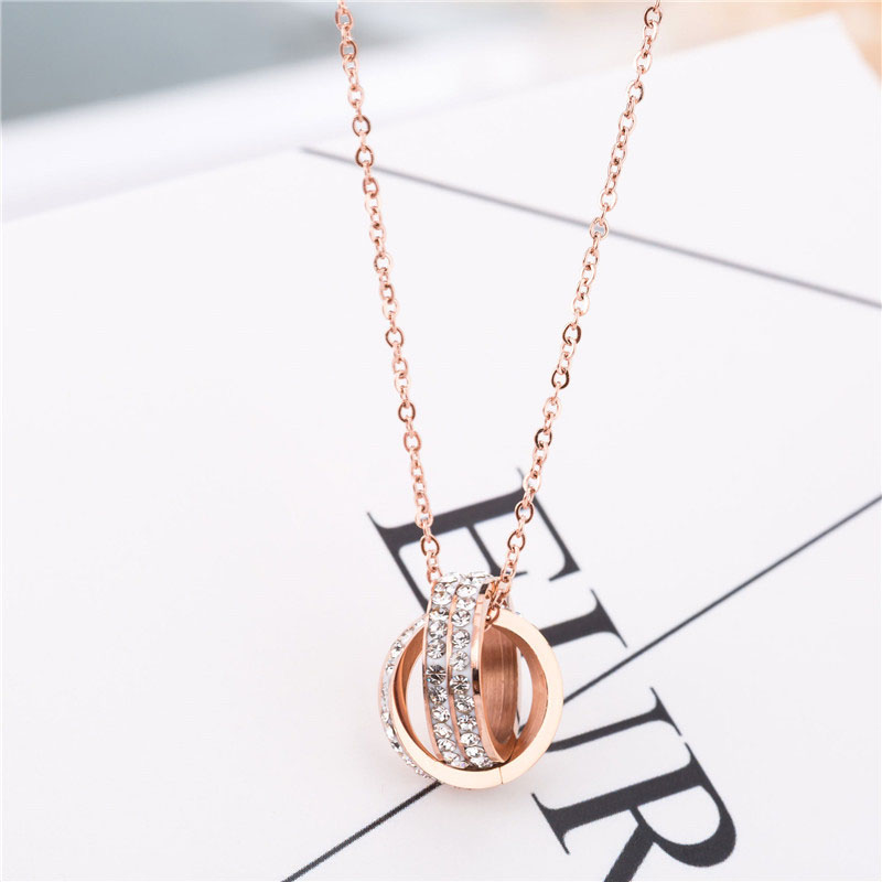 Rose Gold Necklace With Pendant