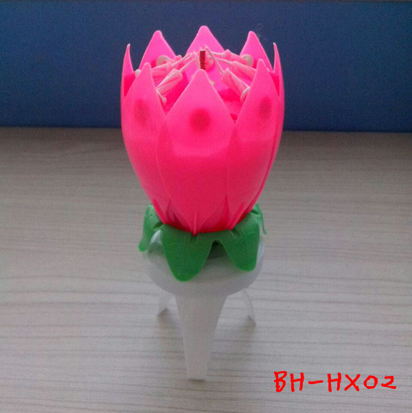 Rotating Flower Candle