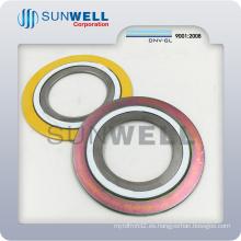 Junta espiral de la herida, junta tórica de sellado, junta del anillo interno y externo
