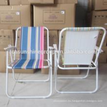 Silla de playa de respaldo alto, silla de playa plegable, silla de picnic