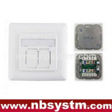 FTP Cat.6 Outlet 2 Port (80 type Face plate)
