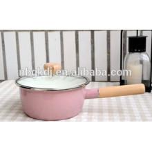 Enamelware Casserole metal flower pot