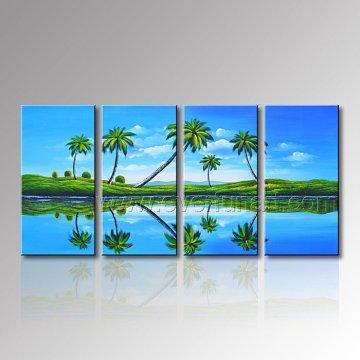 Pintura al óleo pintada a mano del paisaje marino del 100% para la decoración de la pared (SE-310)